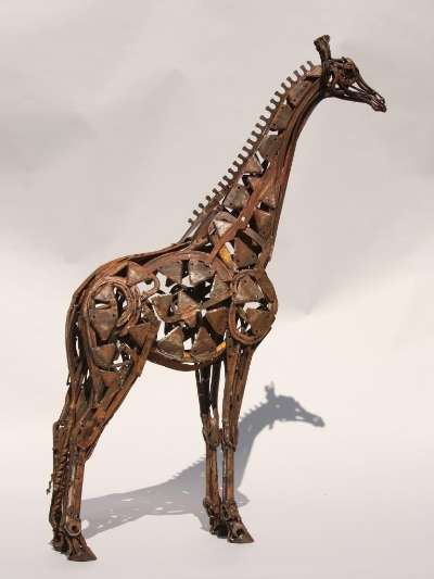 Hedge-trimmer Giraffe‐Found Object Steel‐Harriet Mead